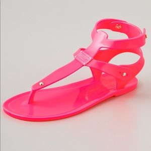 Marc Jacobs Hot Pink Jelly Thong Sandals